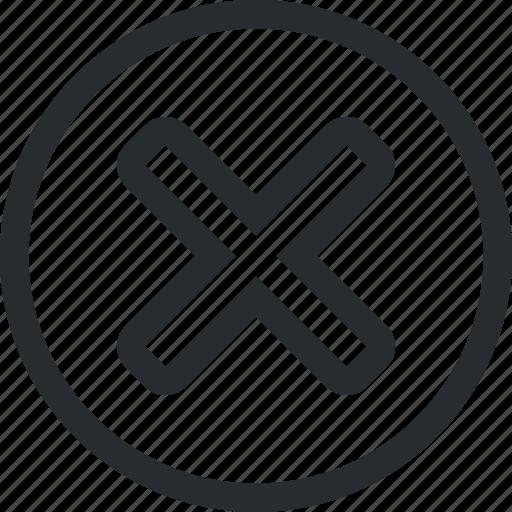cancel, cross, delete, drop, erase, remove, suppress icon