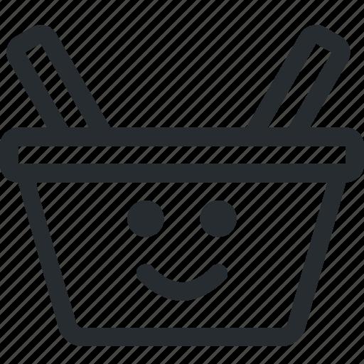 cart, customer, e-shop, full, happy, shop, shopping icon