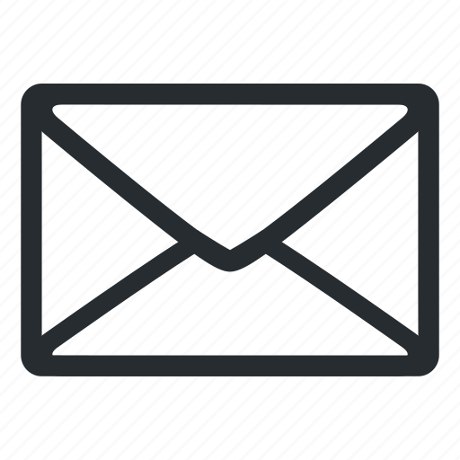 email, envelope, letter, mail, message, missive, post icon