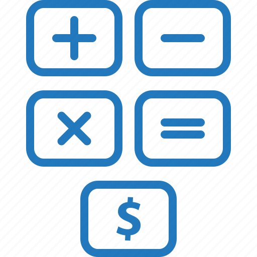 budget, calculations, calculator, cost, estimate, payroll, quote icon