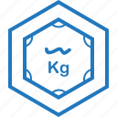 kg, measure, measuring, tool, weight icon