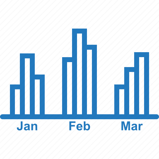 accounting, bar, business, chart, monthly, monthly accounting, revenue icon