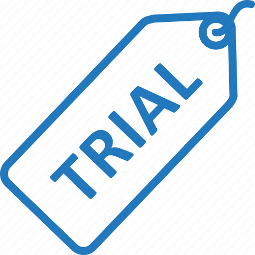 badge, label, product, tag, trial icon