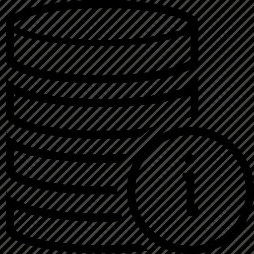 data, databases, information, server icon