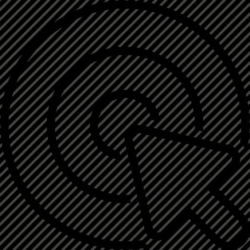 cursor, goal, pointer, target icon