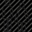avatar, couple, female, male, profile icon