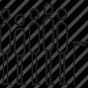 line, line up, people, queue, wait icon