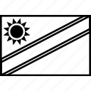 flag, nam, namibia, world icon