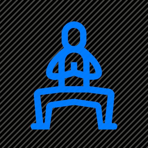buddhist, pose, yoga icon