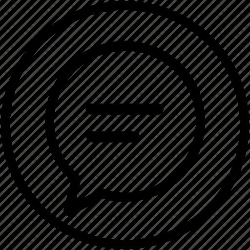 bubble, chat, dialogue, feedback, talk icon