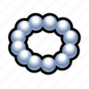 necklace, pearl, treasure, dress, jewel icon