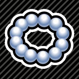 dress, jewel, necklace, pearl, treasure icon