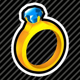 achievement, crystal, diamond, dress, reward, ring, treasure icon