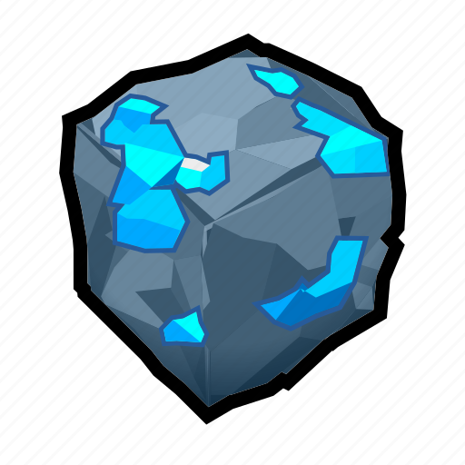 blue, crystal, mineral, rock, stone icon