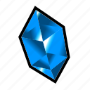 blue, crystal, gem, mineral, money, stone, treasure icon