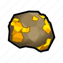 crystal, gold, minerals, prize, rock, stone, treasure icon
