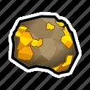 crystal, gold, minerals, stone, treasure, prize, rock icon
