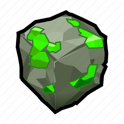 crystal, green, mineral, rock, stone icon