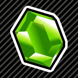gem, green, minerals, money, stone, treasure icon
