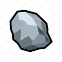 mine, mineral, pure, rock, silver, stone, treasure icon