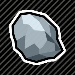 mine, mineral, pure, rock, silver, stone, treasure icon