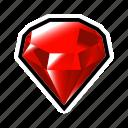 gem, stone, treasure, achievement, crystal, mineral, reward icon