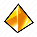 achievement, crystak, gem, reward, stone, treasure, yellow icon
