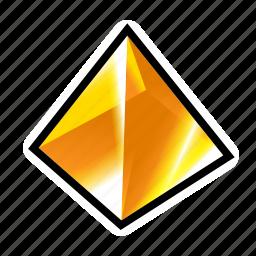 achievement, crystak, gem, reward, stone, treasure, yellow icon