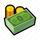 big, cash, coin, credit, gold, money, payment icon