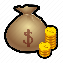 bag, coin, gold, loot, money, prize, treasure icon