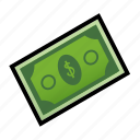 cash, currency, dollar, financial, money, paper, payment icon