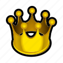 crown, gold, king, money, prize, reward, treasure icon