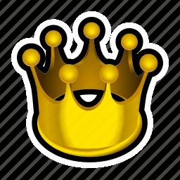 crown, gold, king, money, prize, reward, treasure icon
