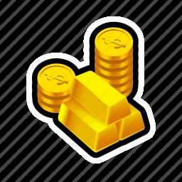 buy, coin, fortune, gold, money, reward, treasure icon
