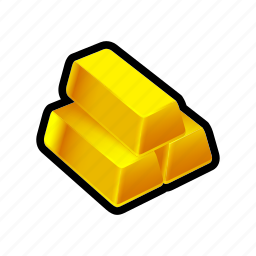bar, buy, gold, money, payment, pile, stack icon