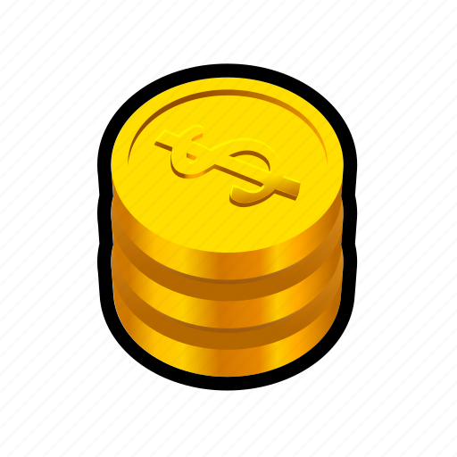 buy, cash, coin, gold, money, price, stack icon