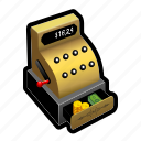 cashier, coin, dollar, financial, gold, money, register icon