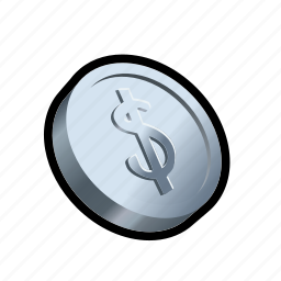 buy, cash, coin, monetary, money, price, silver icon