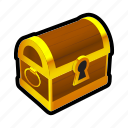 chest, closed, gold, money, prize, reward, treasure icon