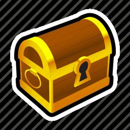 chest, closed, gold, money, prize, reward, treasure icon