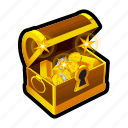 chest, coin, gold, money, treasure, achievement, reward
