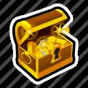 chest, coin, gold, money, treasure, achievement, reward icon
