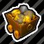 car, coin, gold, mine, money, tools, treasure icon