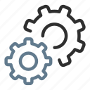 cog, config, gears, options, productivity, settings, support icon