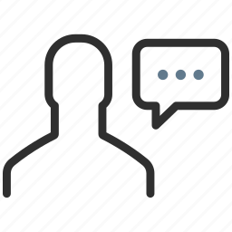 avatar, chat, communication, men, person, speech, talk icon