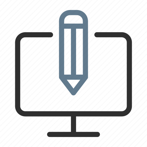 computer, design, device, edit, pc, pen, personalize icon