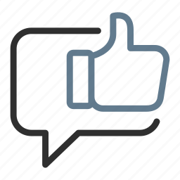 chat, feedback, like, message, positive, talk, thumbs up icon
