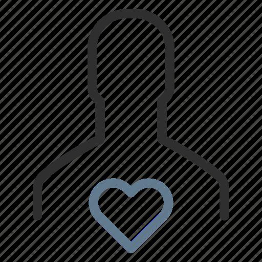 favorite, health, heart, like, love, man, person icon