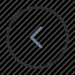 arrow, back, circle, direction, left, move, previous icon