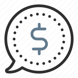 bubble, cash, currency, dollar, earnings, finance, money icon